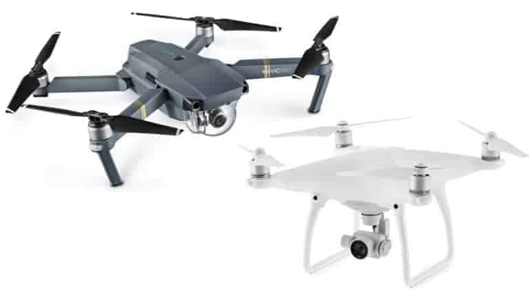 DJI Mavic and DJI Phantom 4