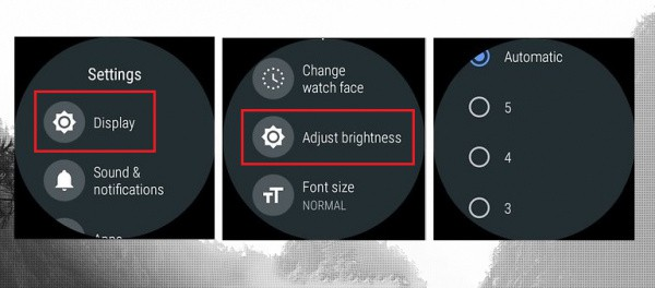 Disable the Automatic Brightness Settings