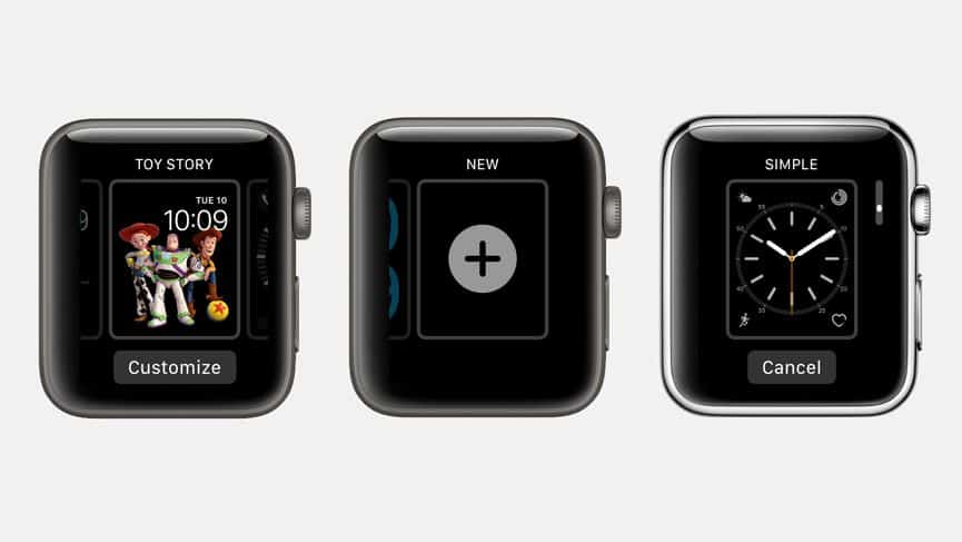 Interface Apple Watch