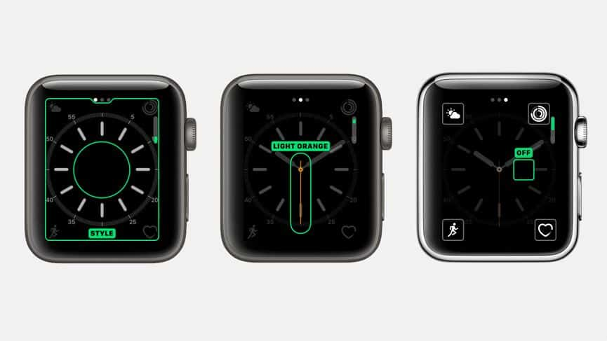 Interface for Apple Watch
